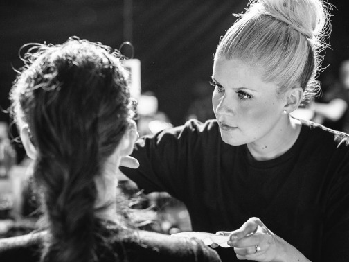 Janine Holmes Makeup Artist-in action 1