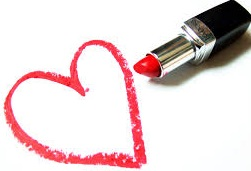 Lipstick Heart red