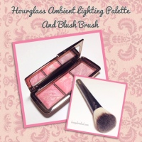 Hourglass ~ Ambient Lighting Blush Palette and Foundation/Blush Brush No. 2 Review