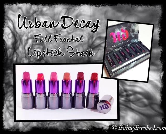Urban Decay Full Frontal lipstick Stash Set