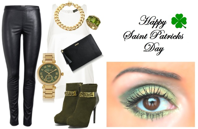 Saint Patricks Day Outfit and Makeup