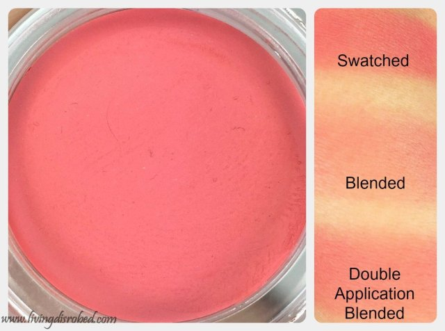 Lise Watier Blush Fondant Suprême Shell Swatch Review