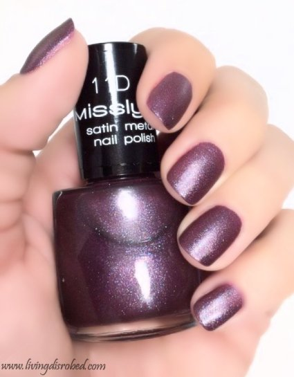 Misslyn Nailpolish 11D Satin Metal naughty girl