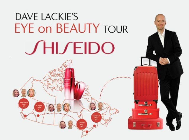 Dave Lackie Eye on Beauty Tour Vancouver Shiseido