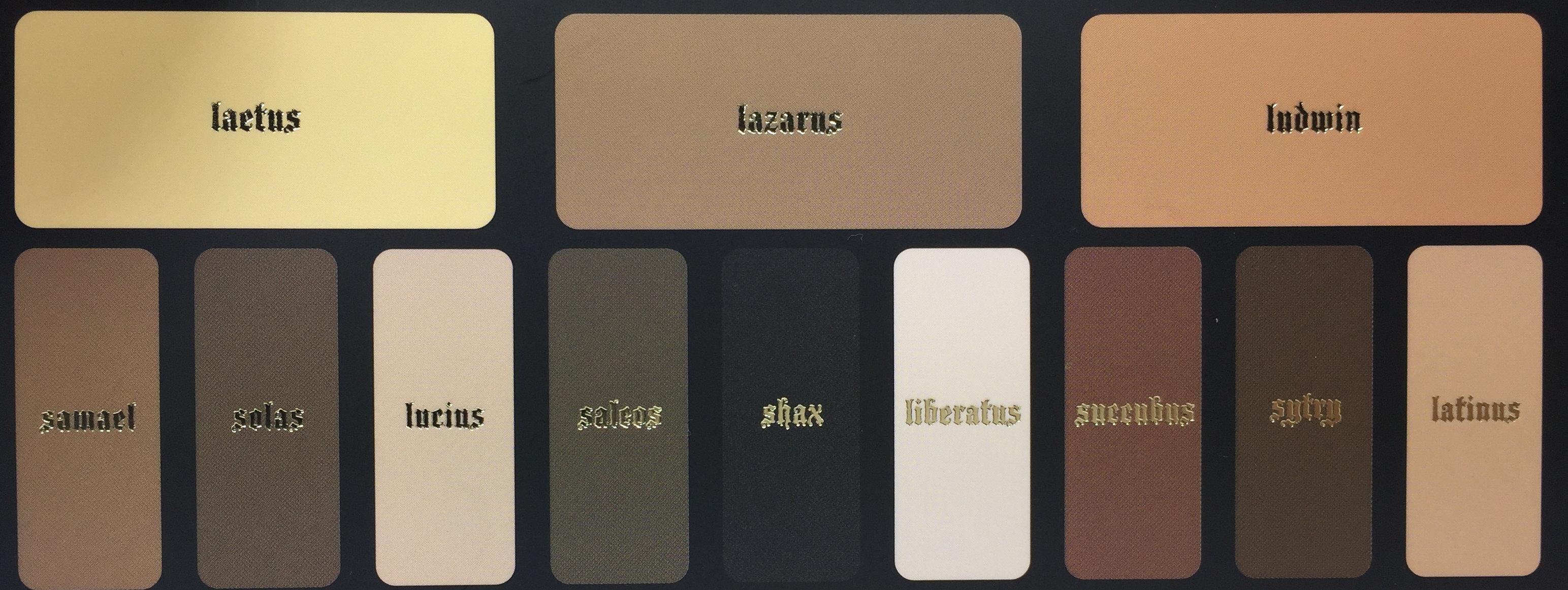 Kat Von D Shade And Light Eye Contour Palette Names