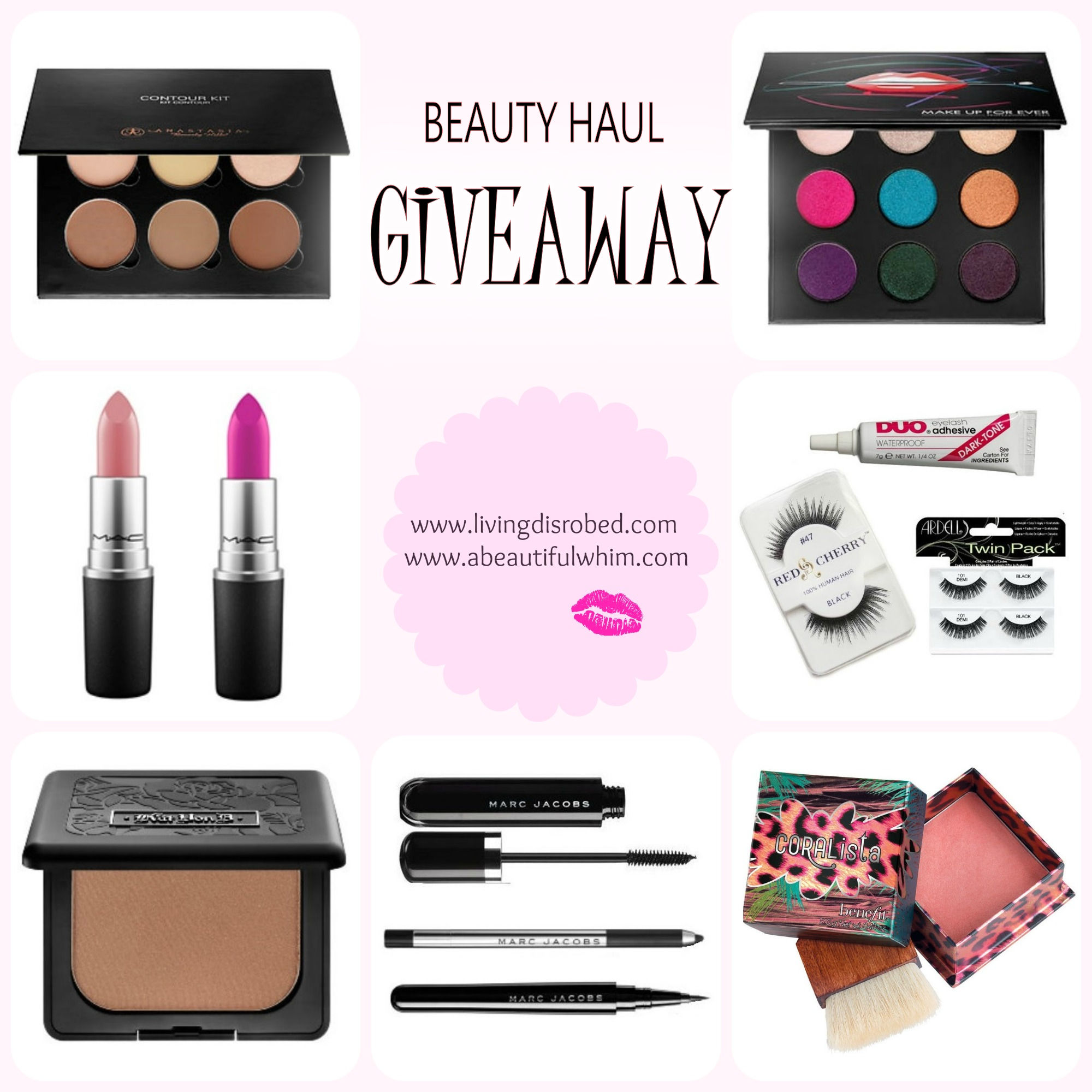 Fashion and beauty blog giveaways with few entries