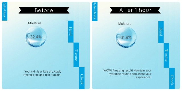 lise-watier-hydraforce-creme-gel-before-and-after
