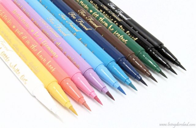 Too Faced Sketch Marker Liquid Art Eyeliner Review Swatches