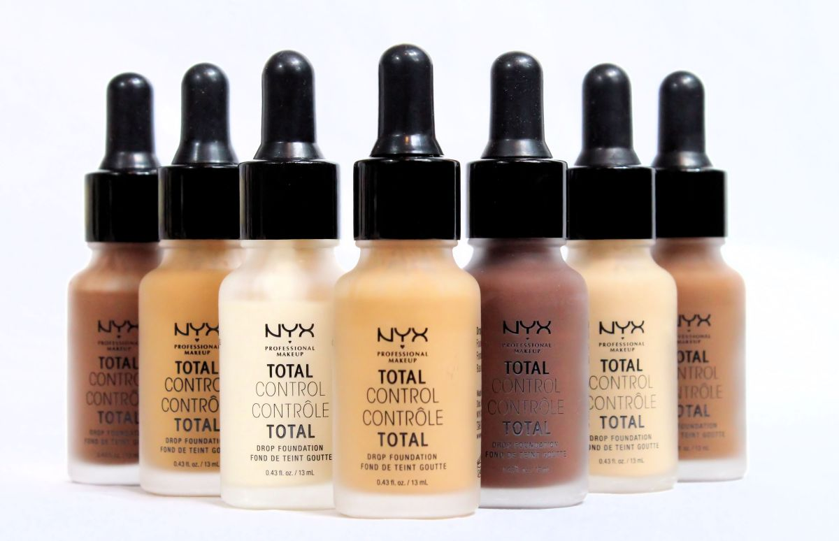 NYX Total Control Drop Foundation Review & Swatches!