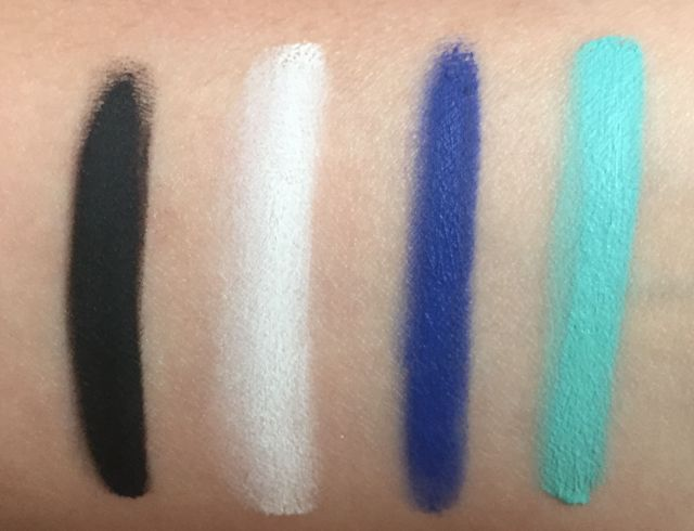 Make Up For Ever Aqua XL Color Paint Matte Swatches