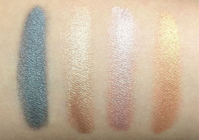Make Up For Ever Aqua XL Color Paint Swatches Iridescent