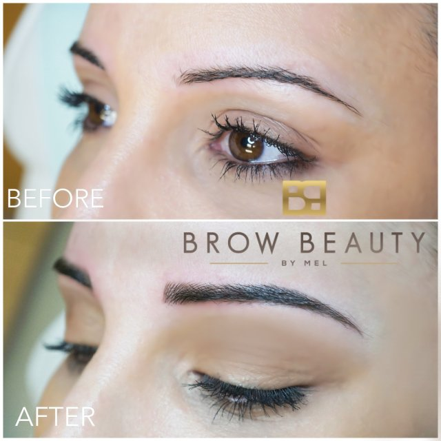 Microblading before and after Vancouver