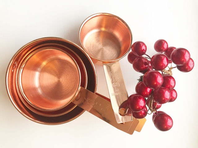 BLUSH PEONY Rose Gold Measuring Cups